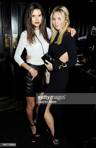 Sarah Ann Macklin and Marissa Montgomery attend the Roger Vivier Virgule London launch party hosted by Atlanta de Cadenet Ines de la Fressange and...