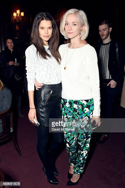 Sarah Ann Macklin and Portia Freeman attend the Pringle of Scotland Autumn/Winter presentation at The Savile Club on February 16 2014 in London...