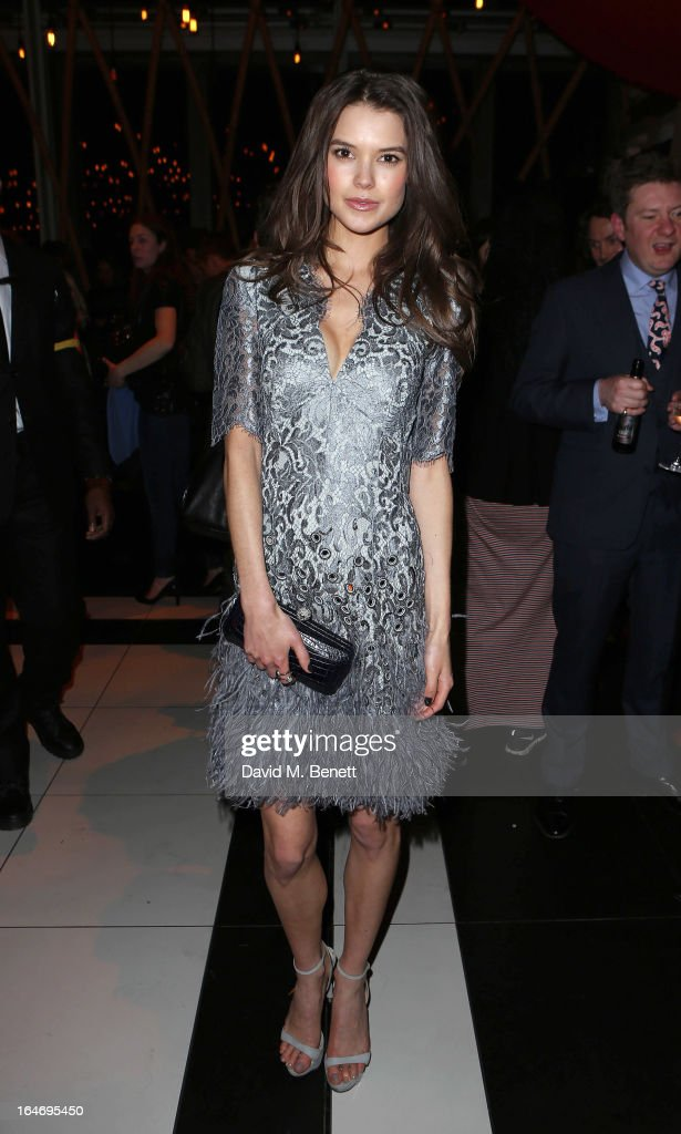 Sarah Ann Macklin attends Esquire's 'The Big Black Book' launch party At Sushi Samba on March 26, 2013 in London England.