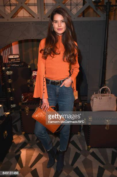 Sarah Ann Macklin attends the Aspinal of London presentation during London Fashion Week September 2017 on September 18 2017 in London England