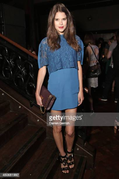 Sarah Ann Macklin attends the DKNY Esquire magazine party during the London Collections Men SS15 on June 15 2014 in London England