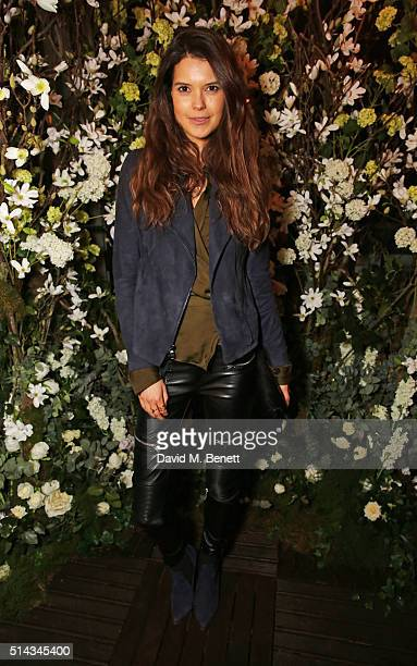 Sarah Ann Macklin attends The Ivy Kensington Brasserie's International Women's Day event and the launch of their new terrace on March 8 2016 in...