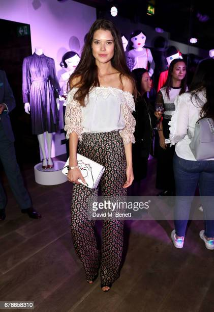 Sarah Ann Macklin attends the Lulu Guinness AW17 launch celebration at The London EDITION on May 4 2017 in London England