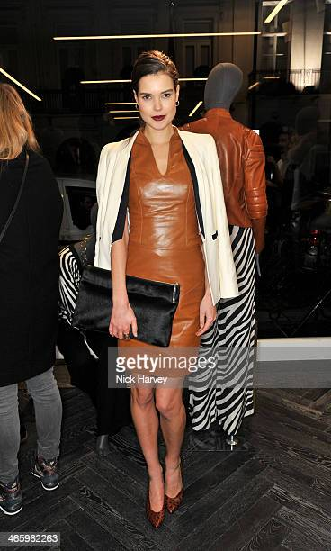 Sarah Ann Macklin attends the opening of the new Amanda Wakeley store on January 30 2014 in London England
