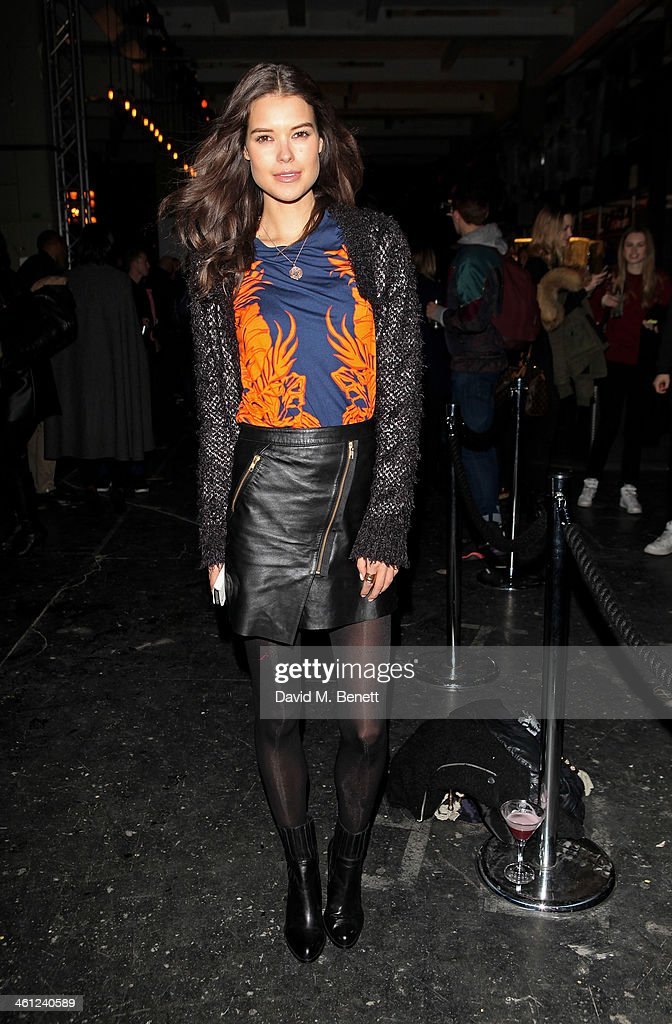 Sarah Ann Macklin attends the Superdry AW14 after party as part of London Collections Men at The Old Sorting Office on January 7 2014 in London...
