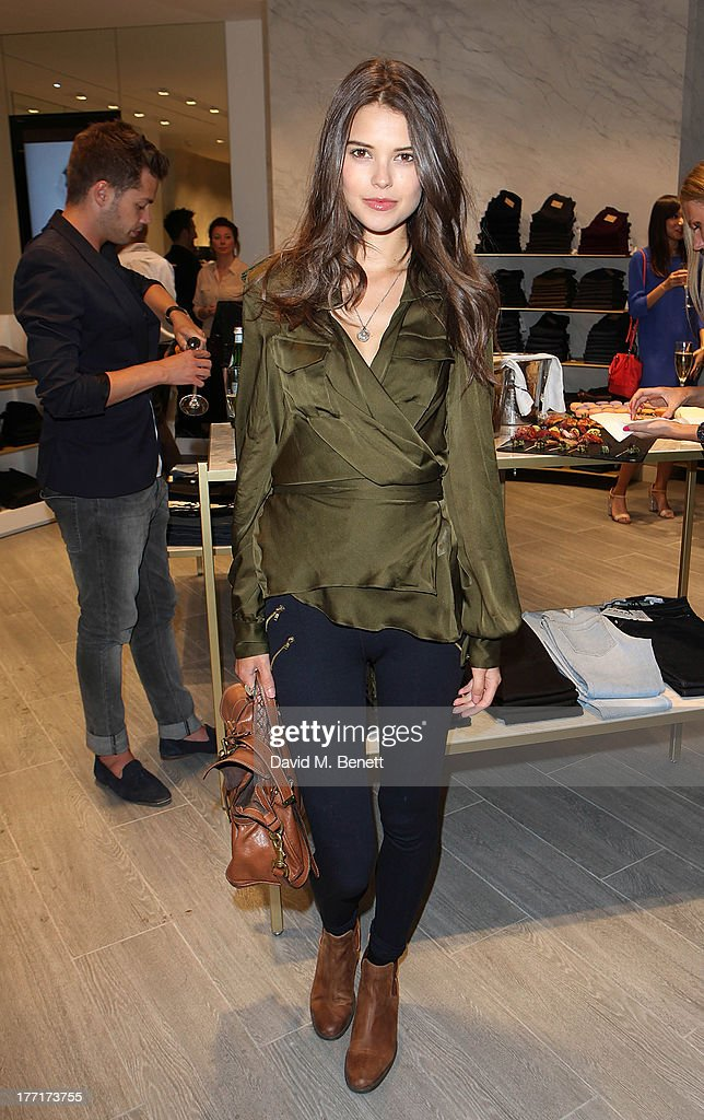 Sarah Ann Macklin attends the Trilogy flagship store launch party on August 21, 2013 in London, United Kingdom.