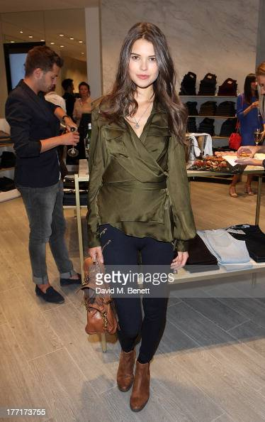Sarah Ann Macklin attends the Trilogy flagship store launch party on August 21 2013 in London United Kingdom