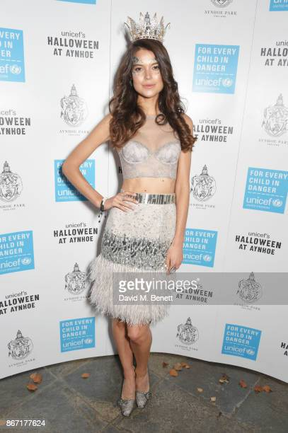 Sarah Ann Macklin attends Unicef's Halloween at Aynhoe Park on October 27 2017 in Banbury England Unicef's Halloween at Aynhoe is raising vital funds...