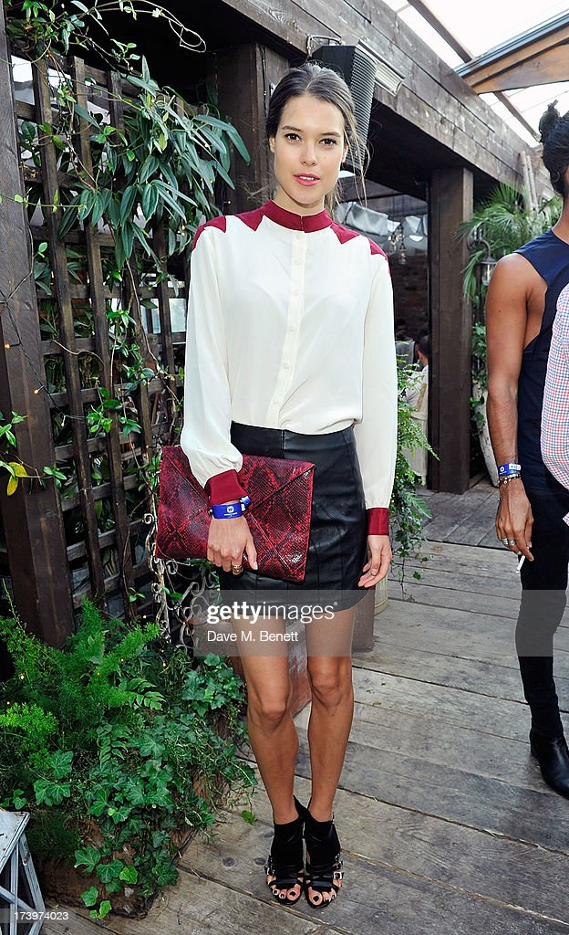 Sarah Ann Macklin attends Warner music group summer party in association with Esquire at Shoreditch House on July 18, 2013 in London, England.