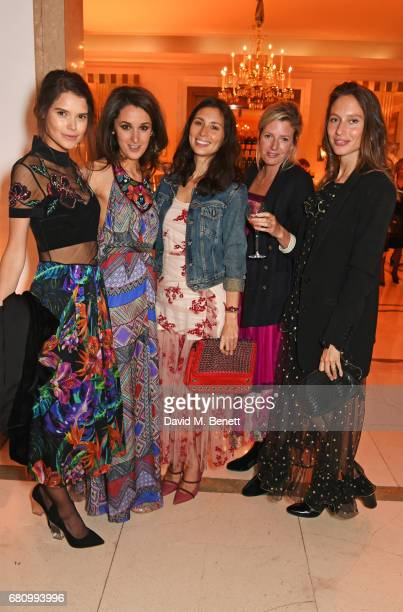 Sarah Ann Macklin Rosanna Falconer Jasmine Hemsley Lucy Carr Ellison and Jemima Jones attend the Veuve Clicquot Business Woman Awards at Claridge's...