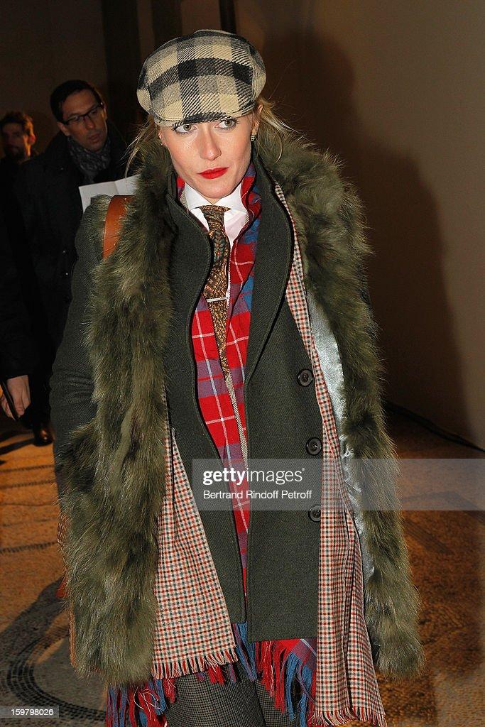 Sarah Ann Murray, The Rake's Group Fashion Editor, attends the Saint Laurent Men Autumn / Winter 2013 show at Grand Palais as part of Paris Fashion Week on January 20, 2013 in Paris, France.