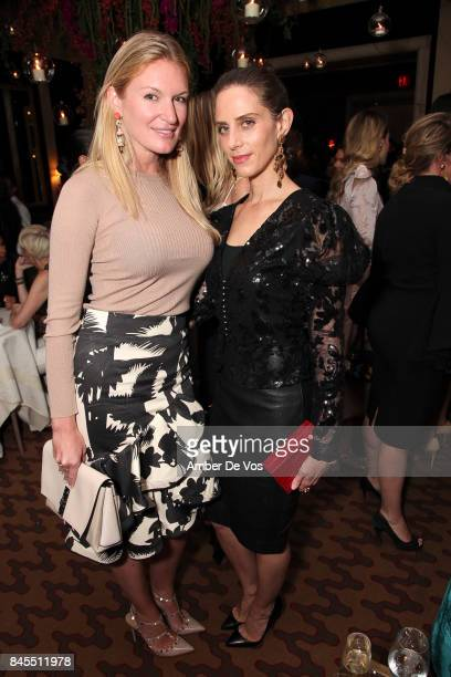 Sarah Arison and Dalia Oberlander attends Town Country Magazine's Modern Swans Celebrationon at The Carlyle September 10 2017 in New York City