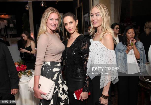 Sarah Arison Dalia Oberlander and Michelle Campbell attend Town Country Magazine's Modern Swans Celebrationon at The Carlyle September 10 2017 in New...