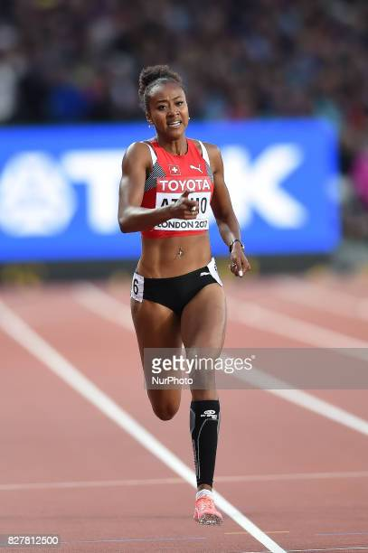 Sarah ATCHO Switcherland during 200 meter heats in London at the 2017 IAAF World Championships athletics on August 8 2017