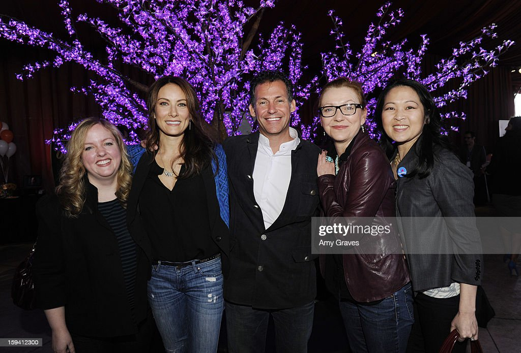 Sarah Baker, Laura Benanti, Gavin Keilly, Julie White and Suzy Nakamura attends GBK's Luxury Lounge During Golden Globe Weekend Day 2 at L'Ermitage Beverly Hills Hotel on January 12, 2013 in Beverly Hills, California.
