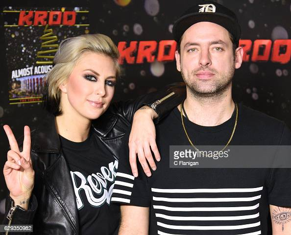 Sarah Barthel and Josh Carter of Phantogram attend the 2016 KROQ Almost Acoustic Christmas at The Forum on December 11 2016 in Inglewood California