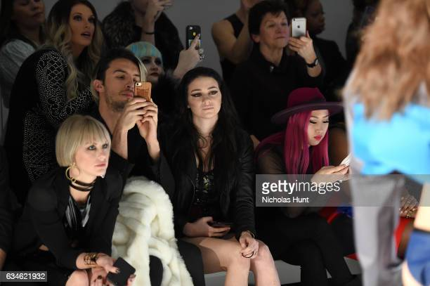 Sarah Barthel and Meredith O'Connor attend the Chromat collection front row during New York Fashion Week The Shows at Gallery 3 Skylight Clarkson Sq...