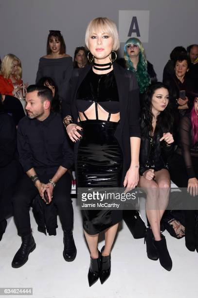 Sarah Barthel attends the Chromat collection Front Row during New York Fashion Week The Shows at Gallery 3 Skylight Clarkson Sq on February 10 2017...