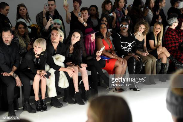 Sarah Barthel Meredith O'Connor Danielle Brooks Camren Bicondova and Kat DeLuna attend the Chromat collection front row during New York Fashion Week...