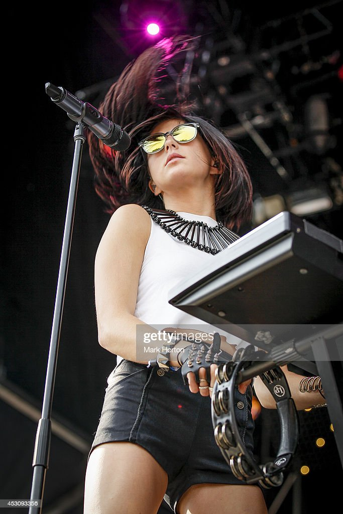 Sarah Barthel of Phantogram performs on Day 2 of the Osheaga Music and Art Festival on August 2 2014 in Montreal Canada