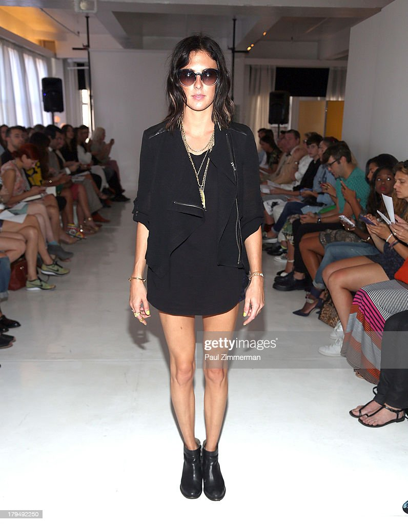 Sarah Barthel of the band Phantogram attends the Organic By John Patrick show during Spring 2014 Mercedes-Benz Fashion Week on September 4, 2013 in New York City.