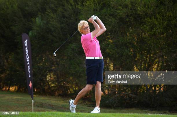Sarah Bennett of Three Rivers Golf Country Club plays her first shot on the 1st tee during The WPGA Lombard Trophy Final Day One on September 21 2017...