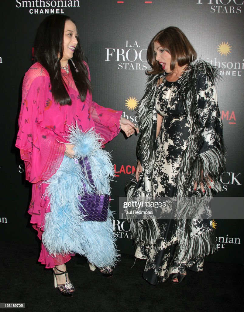 Sarah Bergman and Doris Raymond arrive at 'L.A.Frock Stars' - Los Angeles Screening at LACMA on March 5, 2013 in Los Angeles, California.