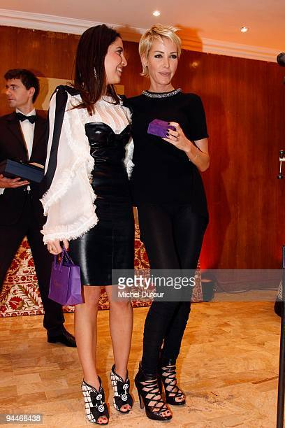 Sarah Besnainou and Ophelie Winter attend 'The Best ' Awards 2009 at Salon Hoche on December 14 2009 in Paris France