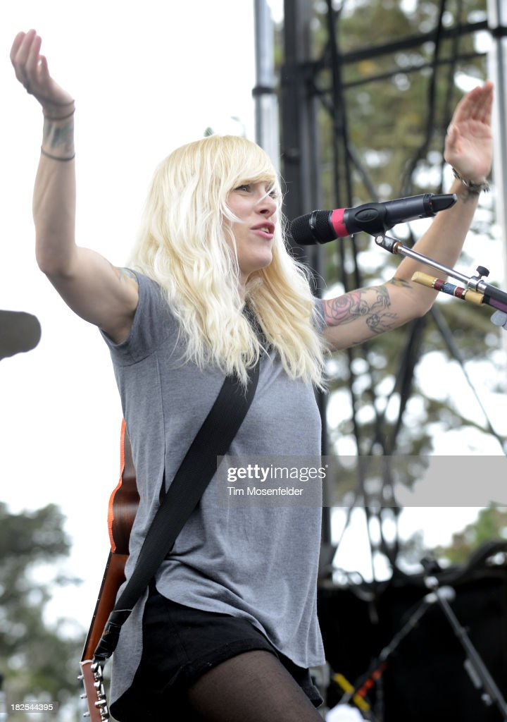 Sarah Blackwood of Walk Off the Earth performs as part of 97.3 Alice Now and Zen in Sharon Meadow in Golden Gate Park on September 29, 2013 in San Francisco, California.
