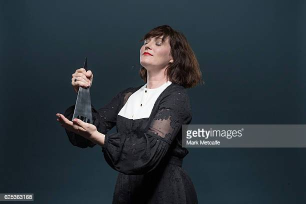 Sarah Blasko poses for a portrait with an ARIA for Best Adult Alternative Album during the 30th Annual ARIA Awards 2016 at The Star on November 23...