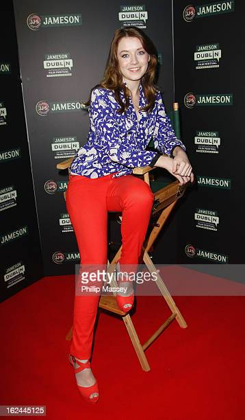 Sarah Bolger attends a screening of 'The Moth Diaries' during the Jameson International Film Festival on February 23 2013 in Dublin Ireland