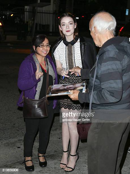 Sarah Bolger is seen on March 04 2016 in Los Angeles California