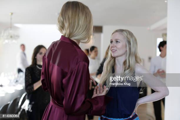Sarah Brandner and Stephanie Watine Arnault during the Clos19 dinner on July 13 2017 in Munich Germany