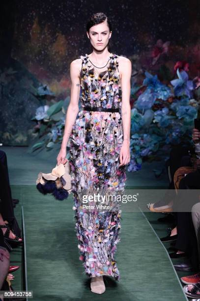 Sarah Brannon walks the runway during the Fendi Haute Couture Fall/Winter 20172018 show as part of Haute Couture Paris Fashion Week on July 5 2017 in...