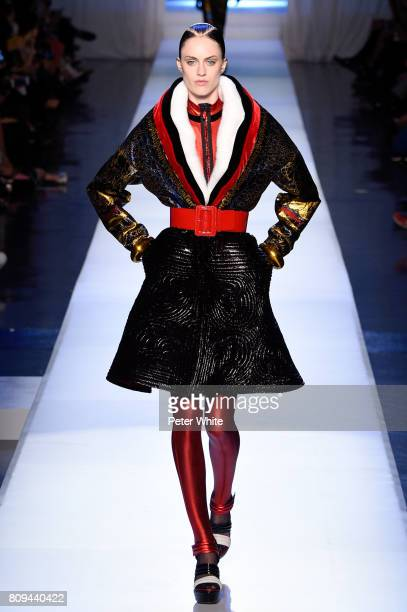 Sarah Brannon walks the runway during the Jean Paul Gaultier Haute Couture Fall/Winter 20172018 show as part of Haute Couture Paris Fashion Week on...