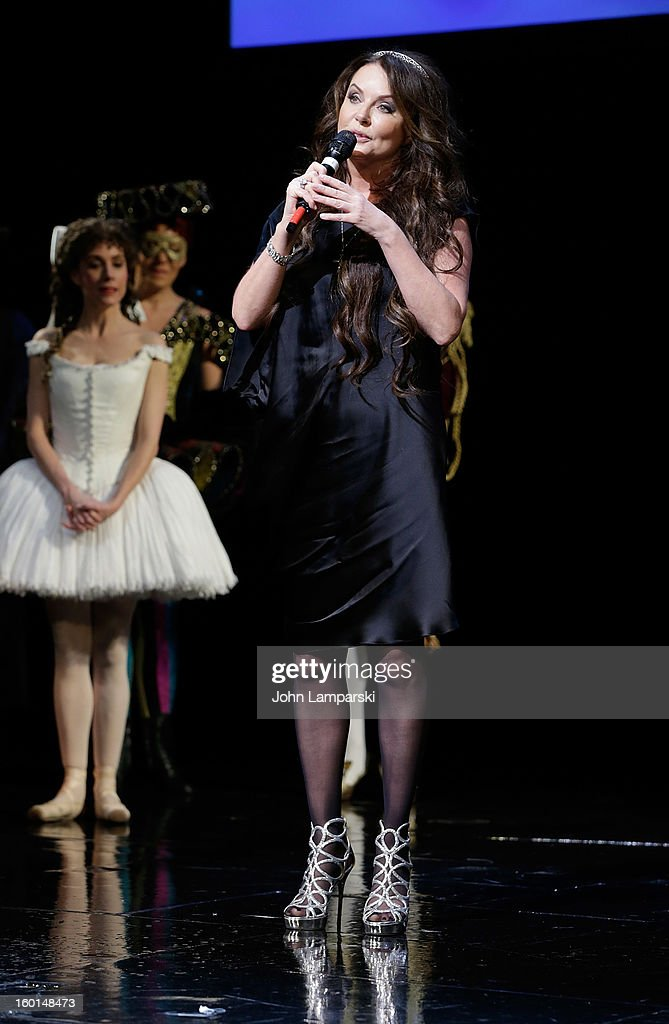 Sarah Brightman attends 'The Phantom Of The Opera' Broadway 25th Anniversary at Majestic Theatre on January 26, 2013 in New York City.