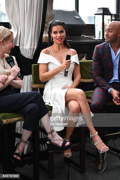Sarah Brown Adriana Lima and Sir John attend the 'American Beauty Star' premiere at Gramercy Terrace at The Gramercy Park Hotel on September 19 2017...