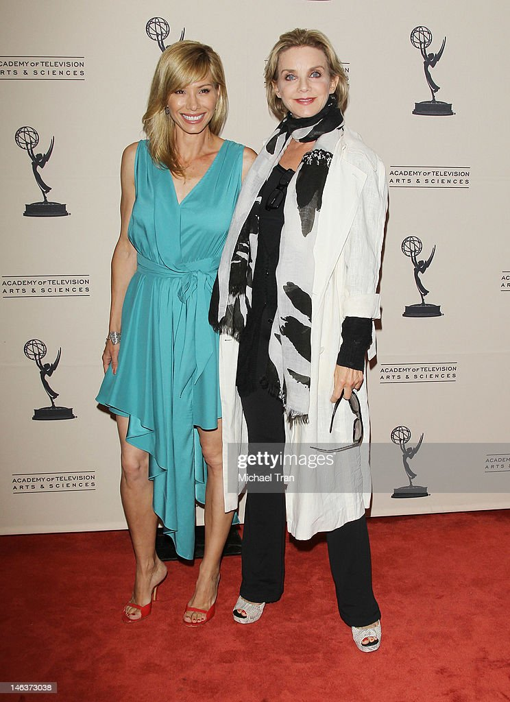 Sarah Brown (L) and Judith Chapman arrive at 39th Daytime Entertainment Emmy Awards - nominees reception held at SLS Hotel on June 14, 2012 in Beverly Hills, California.
