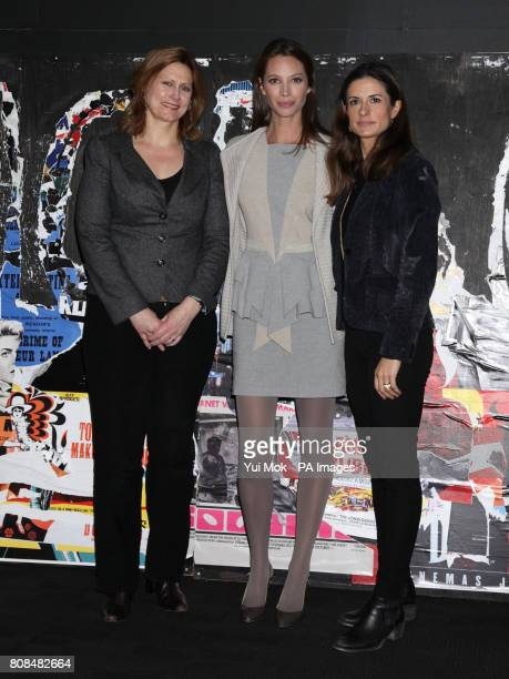 Sarah Brown Director of the film and model Christy Turlington Burns and Livia Firth attending the screening of No Woman No Cry during the BFI London...