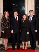 Sarah Brown wife of Gordon Brown President of the European Commission José Manuel Barroso his wife Margarida Sousa Uva and British Prime Minister...