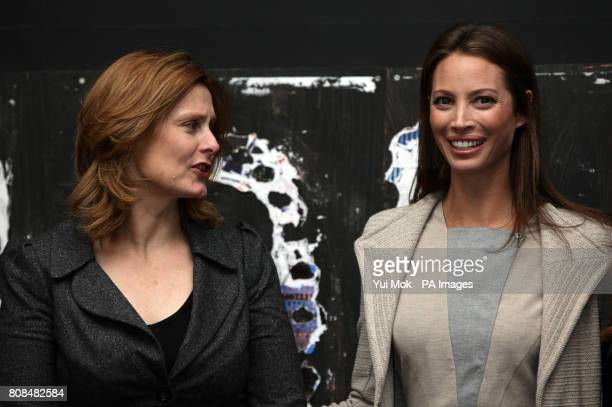 Sarah Brown with Director of the film and model Christy Turlington Burns attending the screening of No Woman No Cry during the BFI London Film...