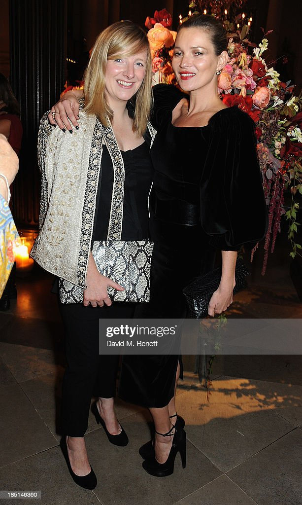 Sarah Burton and Kate Moss attend the Alexander McQueen and Frieze Dinner to celebrate the Frieze Art Fair 2013 on October 17, 2013 in London, England.