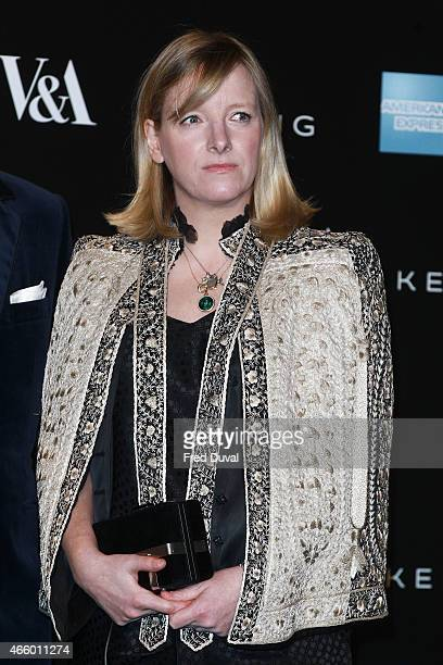 Sarah Burton attends a private view for the 'Alexander McQueen Savage Beauty' exhibition at Victoria Albert Museum on March 12 2015 in London England