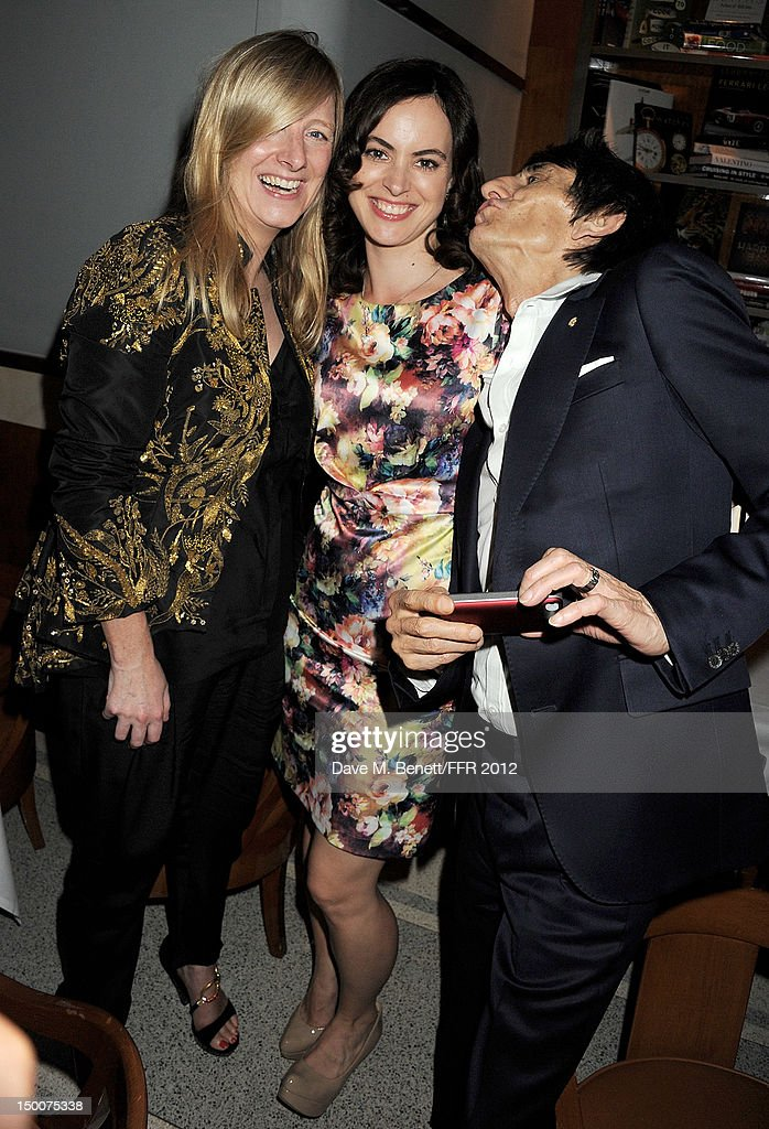 Sarah Burton, Sally Humphreys and Ronnie Wood attend as Naomi Campbell hosts an Olympic Celebration Dinner in partnership with Fashion For Relief, Interview Magazine and Downtown Mayfair celebrating the amazing accomplishments of Team GB on August 9, 2012 in London, United Kingdom. Guest joined event hosts Naomi, Vladislav Doronin and Giuseppe Cipriani at London's Downtown Mayfair. 'The 2012 Olympics have been remarkable - I am elated for Team GB and the extraordinary success they have had so far. It's a very special and proud time to be in London and to celebrate the outstanding talent, which has been showcased during the games. I wish everyone taking part in London 2012 continued strength, determination and perseverance for the remainder of the games.'