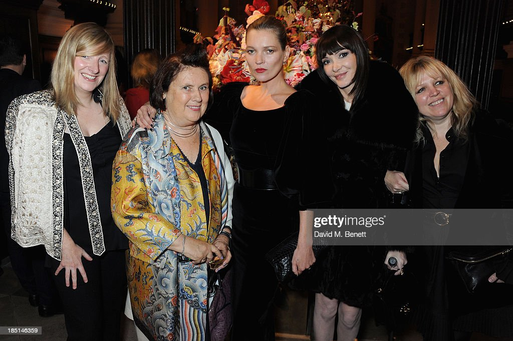 Sarah Burton, Suzy Menkes, Kate Moss, Annabelle Nielson and Jess Hallett attend the Alexander McQueen and Frieze Dinner to celebrate the Frieze Art Fair 2013 on October 17, 2013 in London, England.