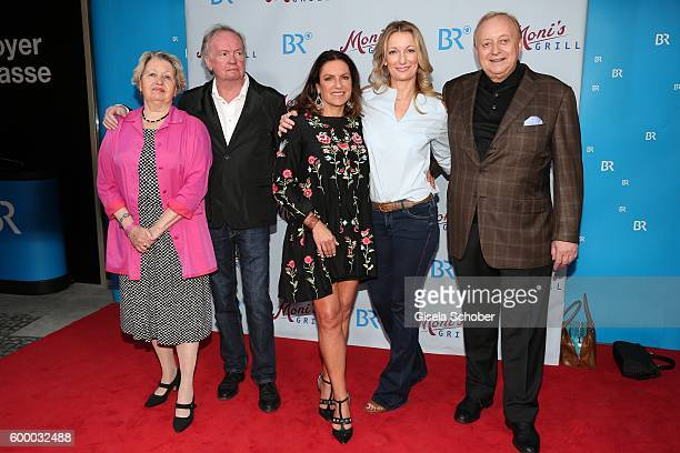 Sarah Camp Director FranzXaver Bogner Christine Neubauer Monika Gruber and Alfons Schuhbeck during the preview for the series 'Moni's Grill' at...