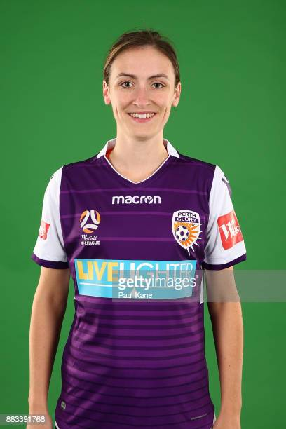 Sarah Carroll poses during a Perth Glory WLeague headshots session on October 18 2017 in Perth Australia