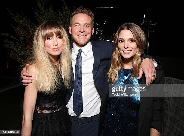 Sarah Carter Cole Hauser and Ashley Greene attend the after party for the premiere of DirecTV's 'Rogue' at The London Hotel on March 16 2016 in West...
