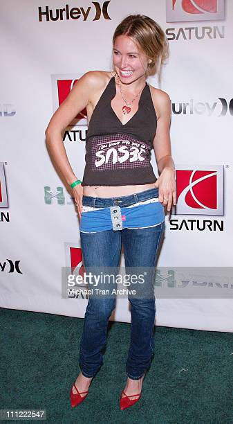 Sarah Carter during 2006 XGames Saturn Party and Fashion Show at 6820 Hollywood Blvd in Hollywood California United States