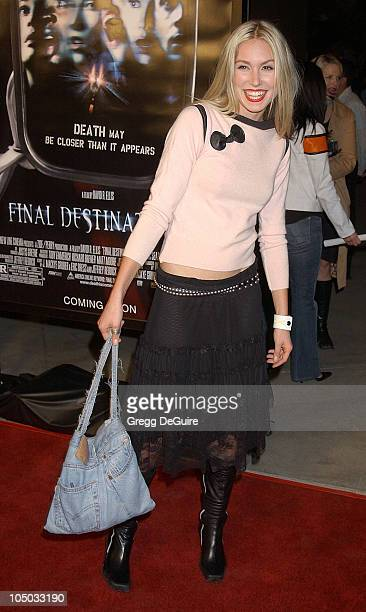 Sarah Carter during 'Final Destination 2' Premiere at Cinerama Dome in Hollywood California United States